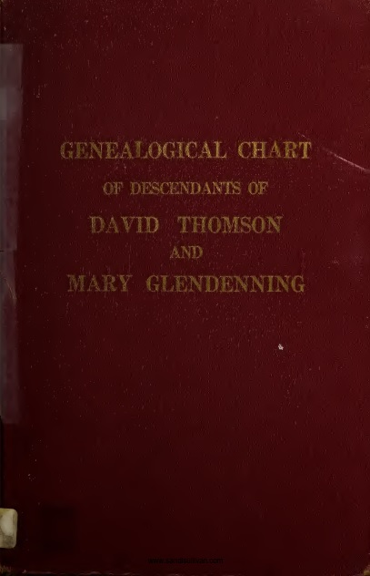 Descendants of David Thomson and Mary Glendenning